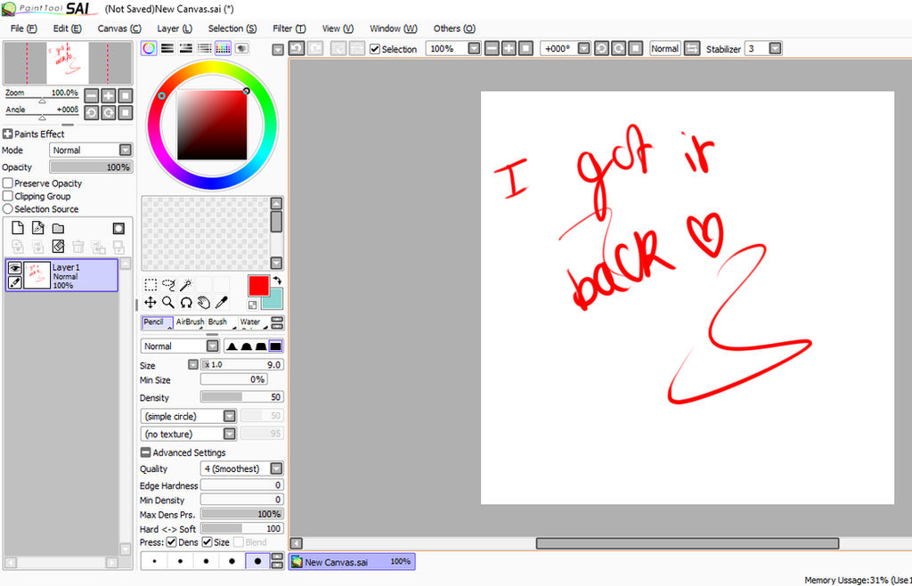 Ugee tablet not working with sai