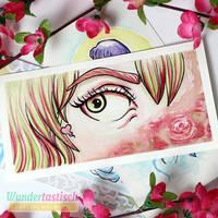 Girl with green eyes by Wundertastisch
