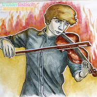 Violinist on Fire by Wundertastisch