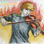 Violinist on Fire