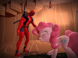 Deadpool X Pinkie Pie by Nechutsu