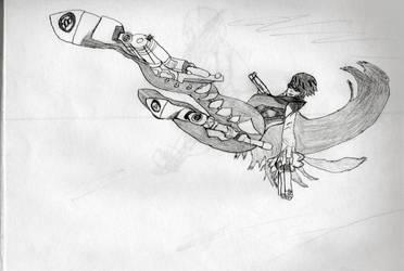 Aim for the Sky, Bayonetta by heart-gold