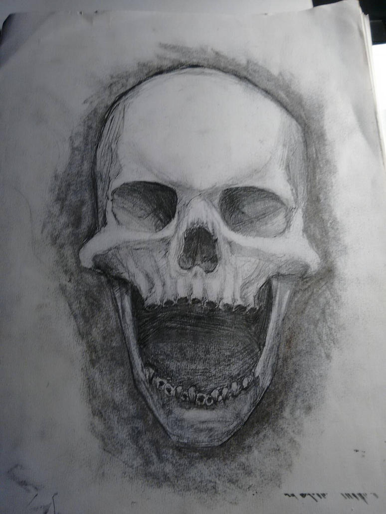gaping mouth skull by hatchet4yourneck