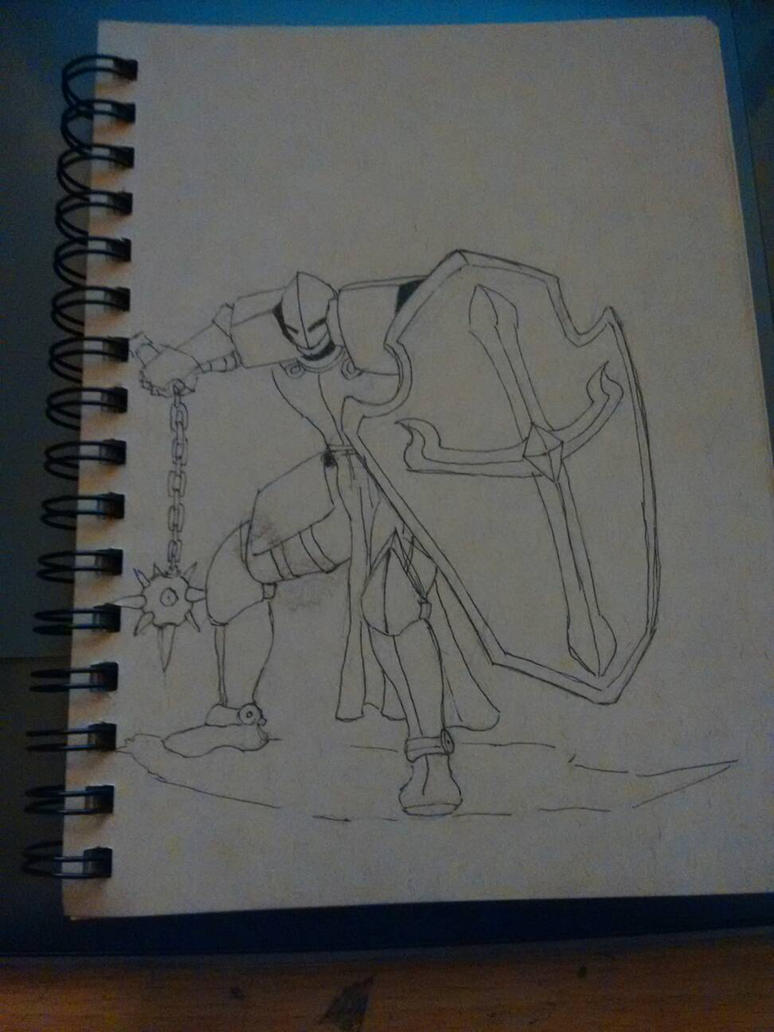 knight sketch by hatchet4yourneck