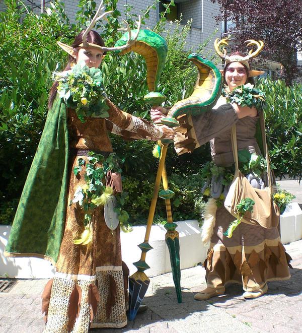 Nightelf Druids in Bonn by KamuiCosplay