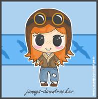 Aviator Girl - J-D - Art Trade by candysores