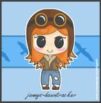 Aviator Girl - J-D - Art Trade