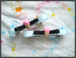 Ice Cream Barrettes by candysores