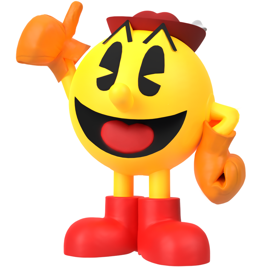 Pac-Land Sm4sh Style Render by JDMH