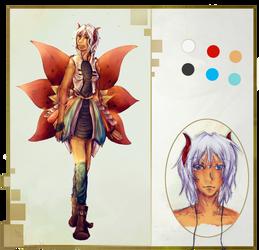 Reference Sheet - Elyade by Kyriu-chan