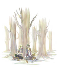 - Under the trees - by Kyriu-chan