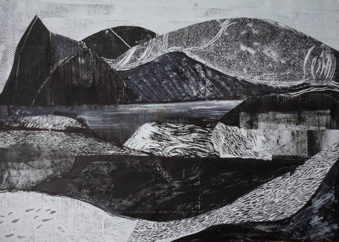 Mountain landscape with a lake. 2017