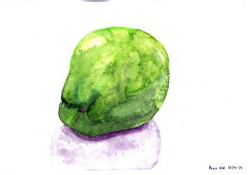 Watercoloured apple by Kineaw