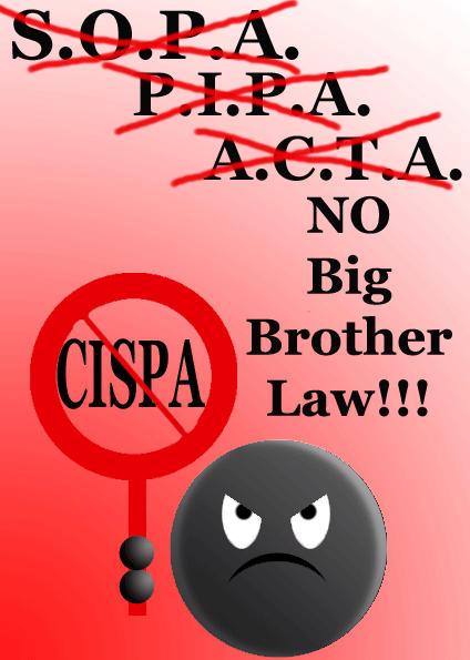 STOP CISPA! NO BIG BROTHER LAW! by Calypsos-Kiss
