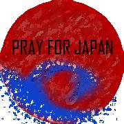Pray for Japan Button by DarthRegina125