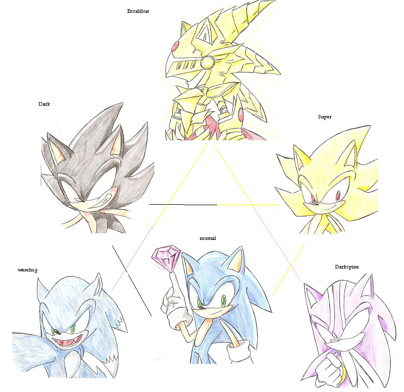 Sonic Forms: Sonic Forms By RoXthehedgehog On DeviantArt