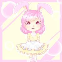 Strawberry Banana Bunny girl by AryannaDraws