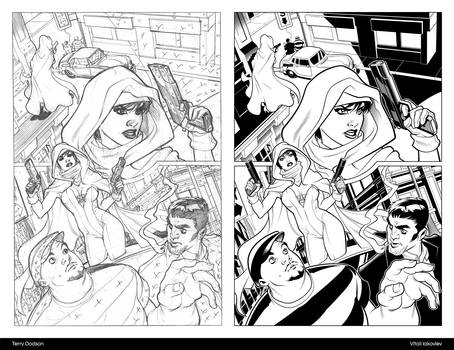 Ghost by Terry Dodson - inking