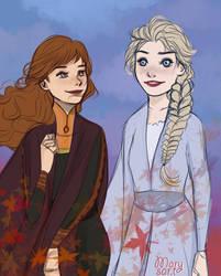 Frozen 2 fanart Anna and Elsa by Pittsdolls