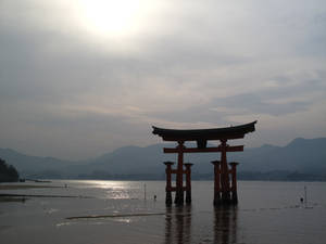 Sunset in Miyajima