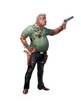 Zombie Survivor: The Trucker by mosingo