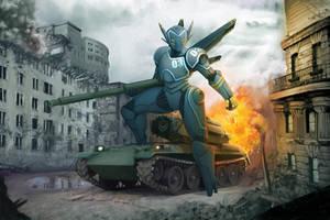 Robot vs Tank by mosingo