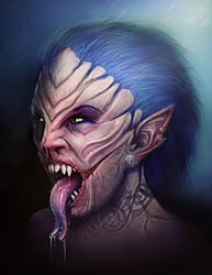 Vampire Elf by mosingo