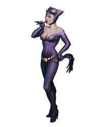 Pin-up Catwoman by mosingo