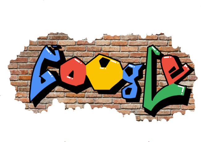 Google Doodle (GRAFFITI) by H20wolf