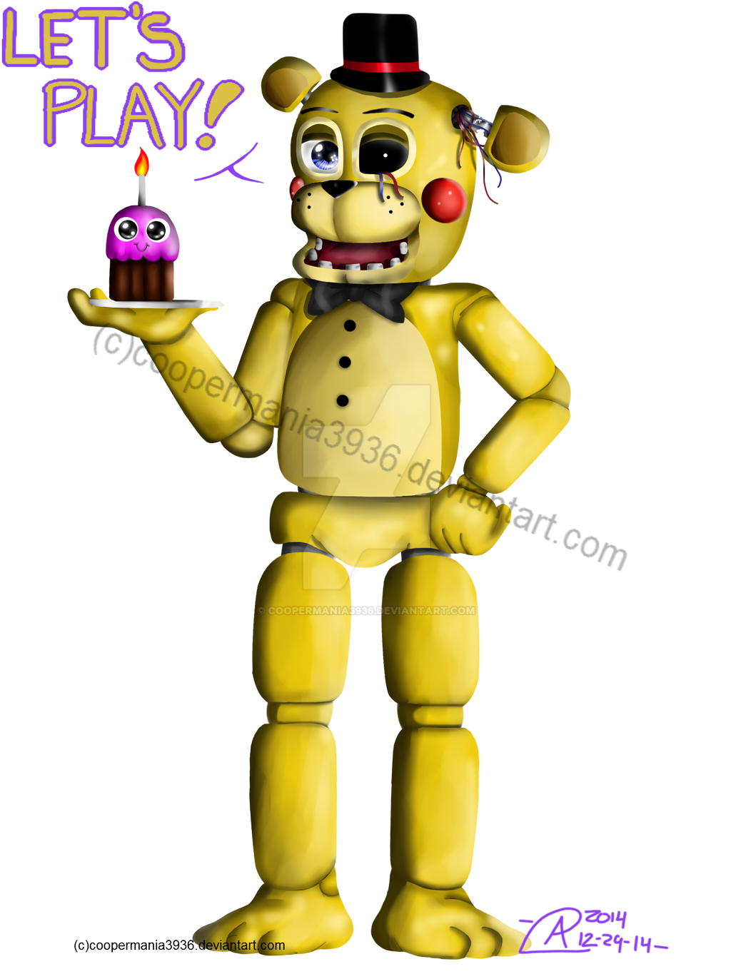 Toy Golden Freddy By Coopermania3936