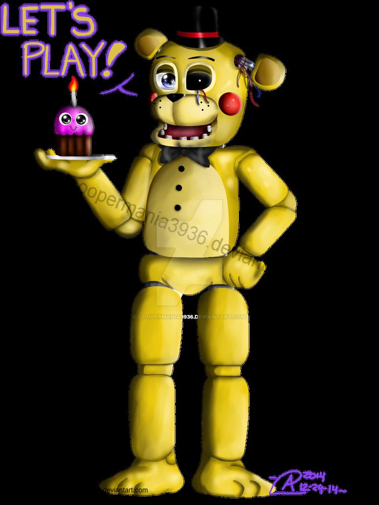 Gold Freddy Toys : Toy golden freddy by coopermania on deviantart