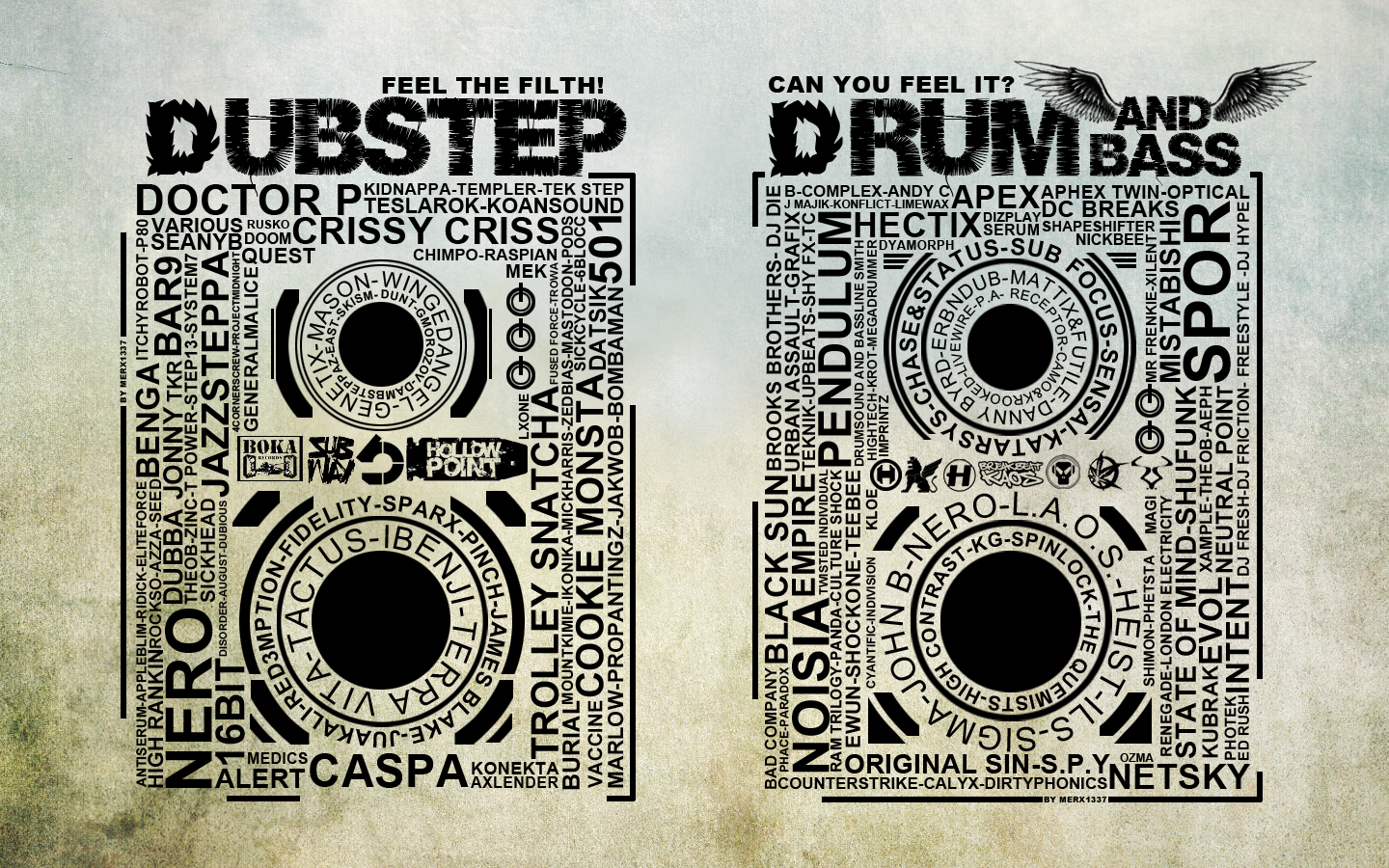 DrumANDBass VS Dubstep by MerX1337