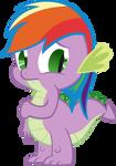 Spike is Rainbow Dash