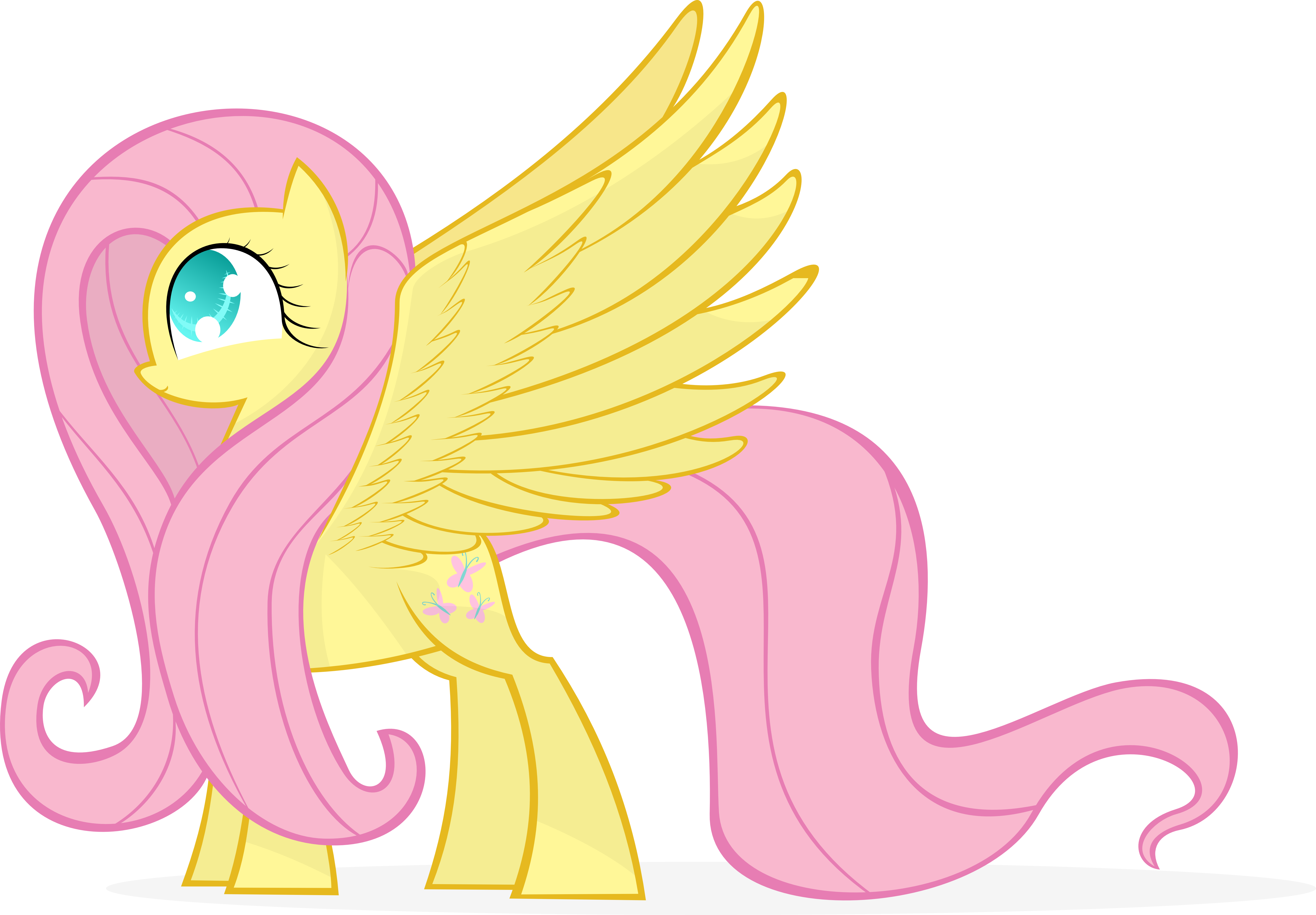Fluttershy Has Wings by KalleFlaxx