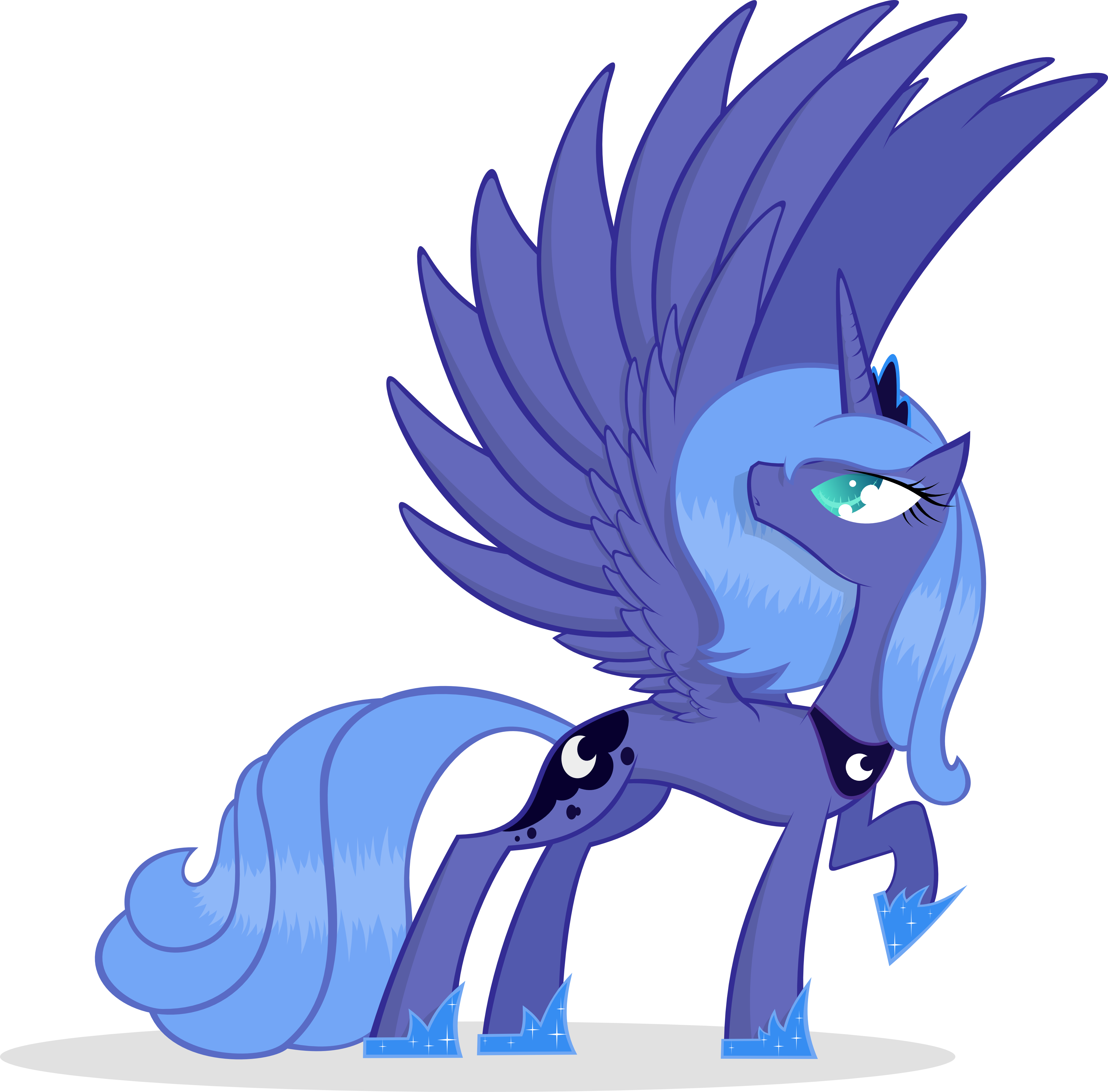 Princess Luna Has Wings Too by KalleFlaxx
