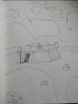 Inktober 2020 oct 15 outpost