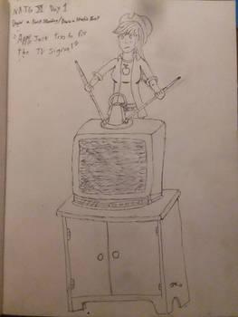 NATG XI Day 1 Applejack trys to fix the tv singal