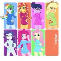 Main Equestria Girls by Rajaie