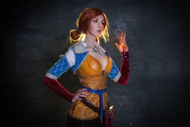 Cosplay Triss Merigold by vika-mark