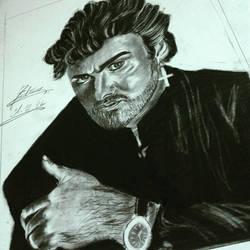 George Michael's portrait by khanf