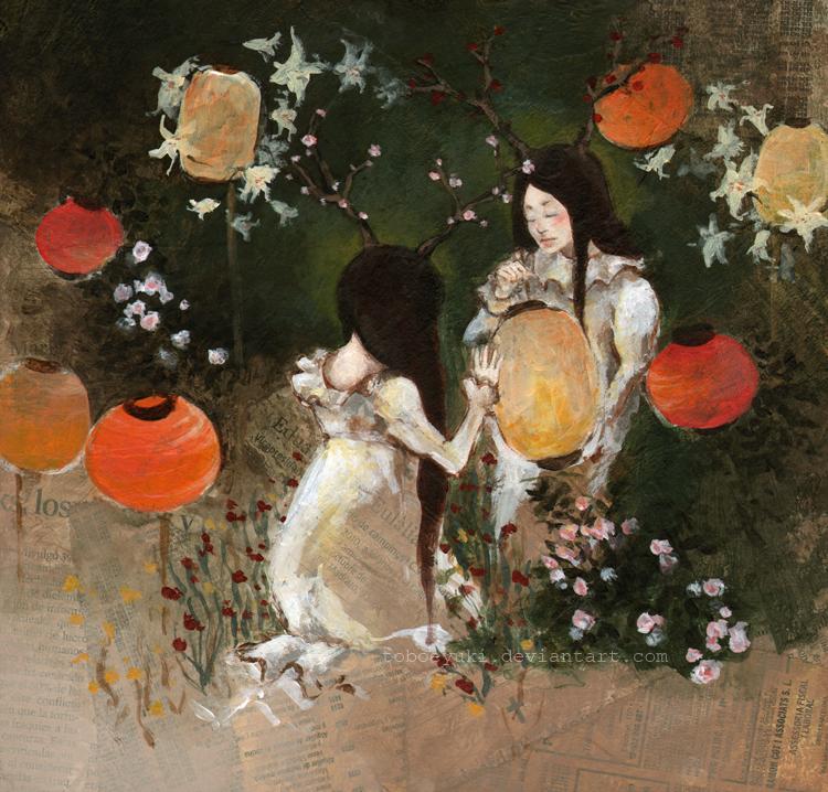 'carnation, lily, lily, rose' by ToboeYuki