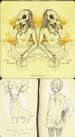 moleskine sketches2 by ToboeYuki