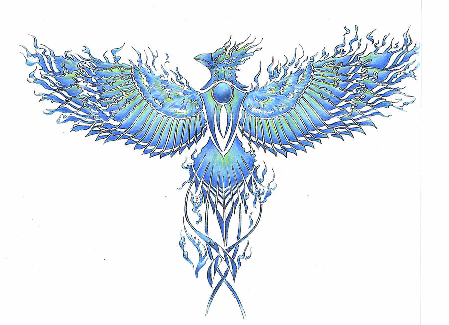 Phoenix - tattoo BlueFlame