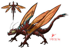 Insect wyvern . Speculative invertebrate