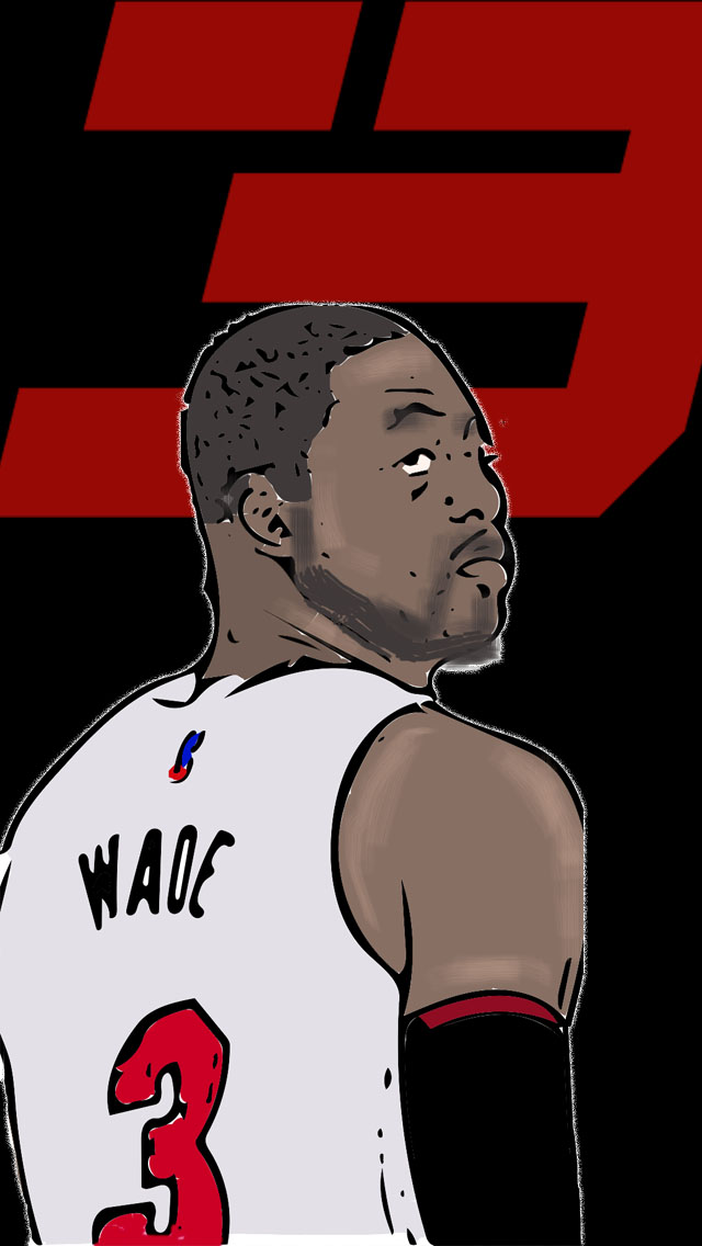 Dwyane Wade Iphone Wallpaper By Diffy2009 On Deviantart