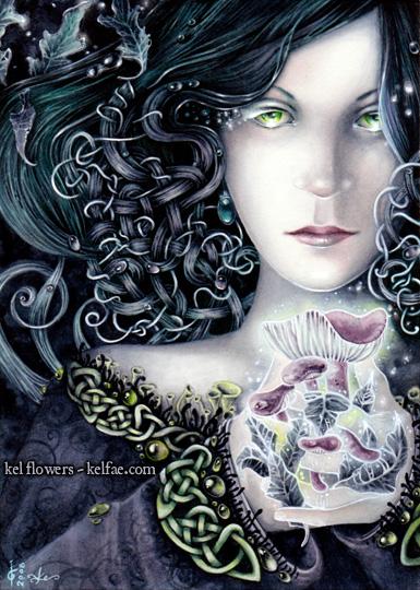 Elfknots:Autumn - watercolour by myceliae