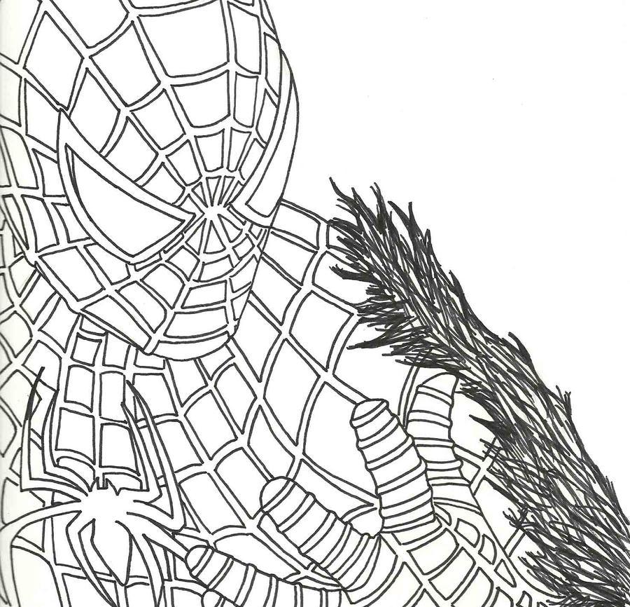 Venom Spiderman Drawing Spiderman With Venom byVenom Spiderman 3 Drawings