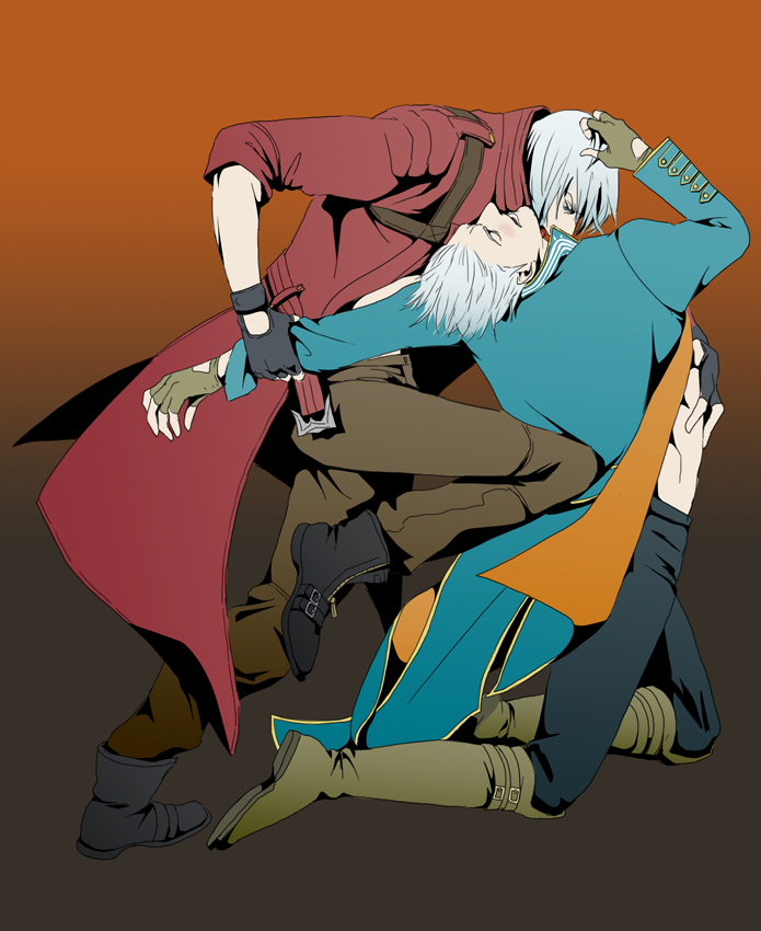 :Yaoi: Dante and Vergil by doubleleaf