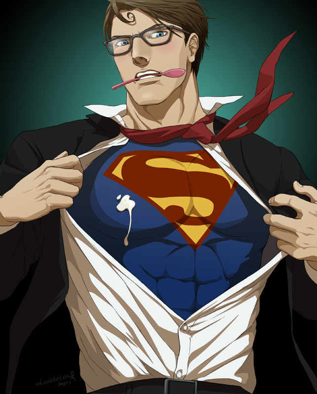 This is a photo of Geeky Clark Kent Drawing