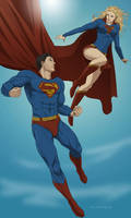 Commish:Superman and Supergirl